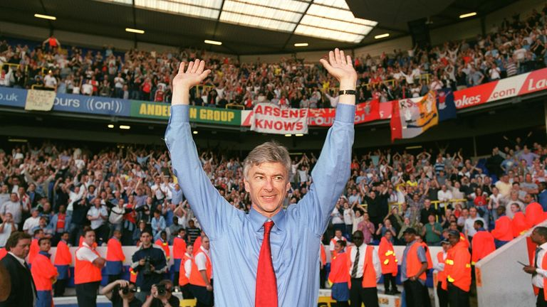 Arsene Wenger's Invincibles clinched the title at White Hart Lane in 2004