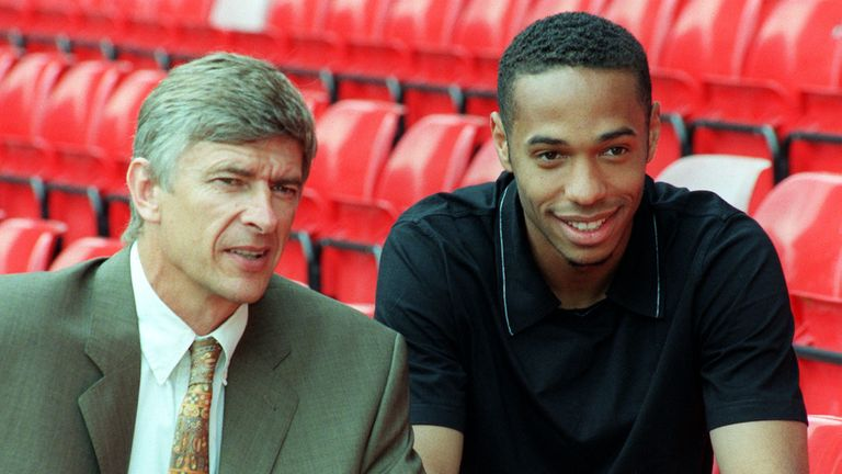 Thierry Henry was signed by Arsene Wenger in 1999