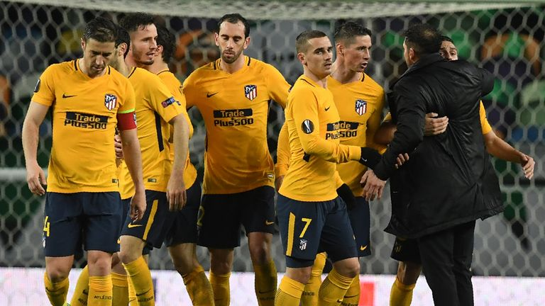 Atletico Madrid beat Sporting Lisbon 2-1 on aggregate to reach the semi-finals