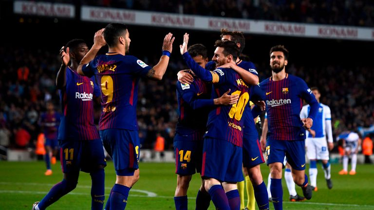 Lionel Messi scored his 40th Barcelona hat-trick against Leganes