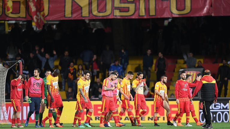 Benevento have been relegated from Serie A after results on Sunday
