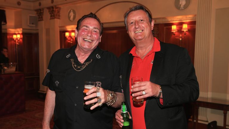 Bobby George (left) had been a friend of Bristow's since their teens