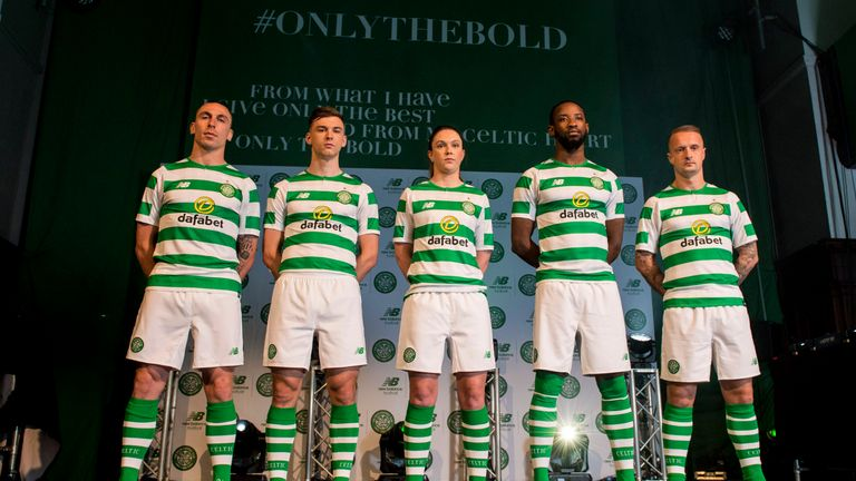 Celtic players show off their new home kit for next season 2faeb264c
