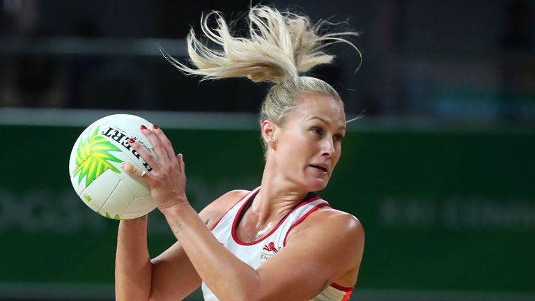 England's Chelsea Pitman in action at the Gold Coast Convention and Exhibition Centre