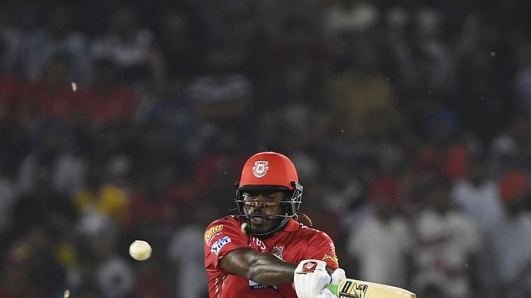 Chris Gayle will look to follow up his quickfire fifty for Kings XI in their last game (Credit: AFP)