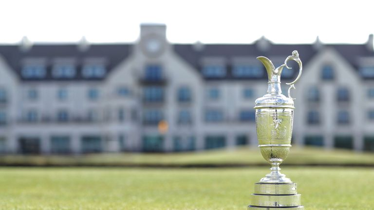 A view of the Claret Jug during The Open Championship media day at Carnoustie Golf Links on April 24, 2018