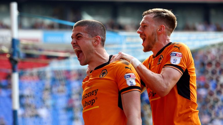 Conor Coady (L) has been picked ahead of John Terry