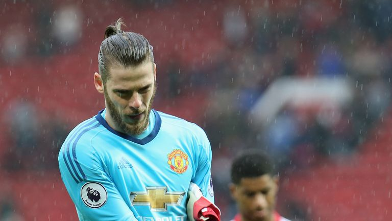 David De Gea says the United players are feeling down after losing to West Brom