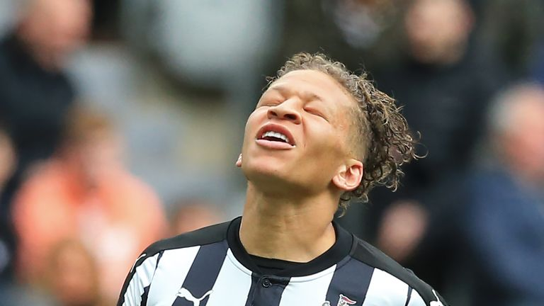 Dwight Gayle has led the line for Newcastle this campaign