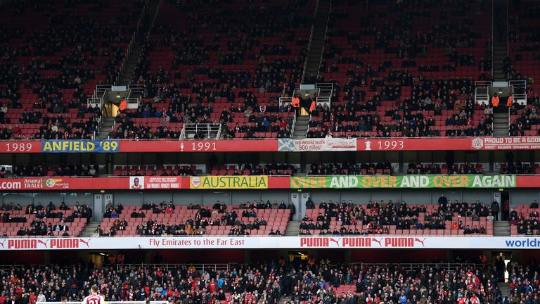 Some Arsenal fans were staying away from the Emirates as the 2017-18 season rumbled on