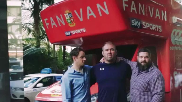 The boys are back in the Fan Van