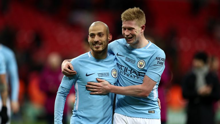 David Silva and Kevin De Bruyne have provided 17 goals and 26 assists combined