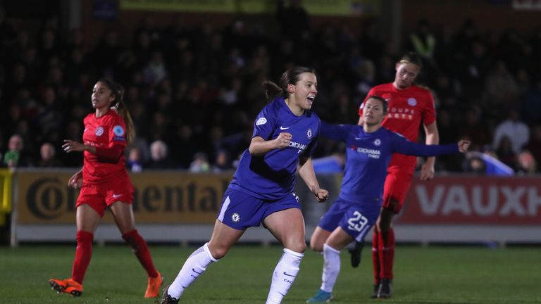 Kirby has scored 22 goals for Chelsea Ladies this season