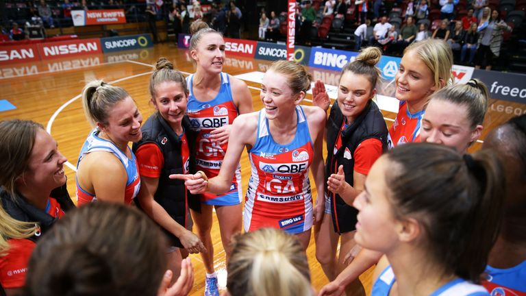 Helen Housby is already playing for Swifts in Suncorp Super Netball