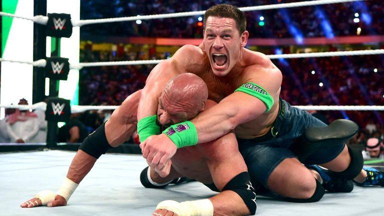 Triple H competed at the WWE's event in Saudi Arabia on Friday night, losing to John Cena