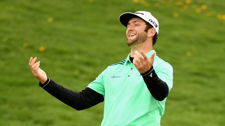 Jon Rahm thought his ball was lost until Beef came to the rescue
