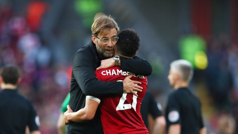 Jurgen Klopp hopes Oxlade-Chamberlain's injury problems are now behind him