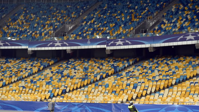 Thursday's game will be played at Kiev's Olympic Stadium