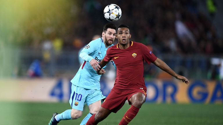 Lionel Messi struggled to make an impact during Barcelona's defeat at Roma
