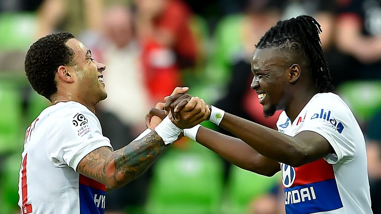 Memphis Depay inspired Lyon to a big win over Metz