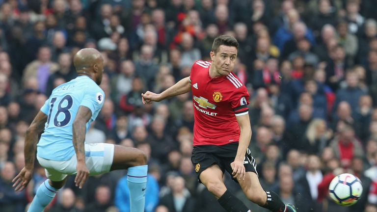 Ander Herrera says he is 'mortified' by suggests he spat deliberately on the Man City badge