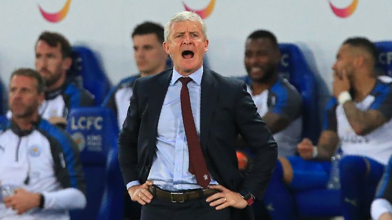 Mark Hughes watched his side collect the first Premier League point of his reign