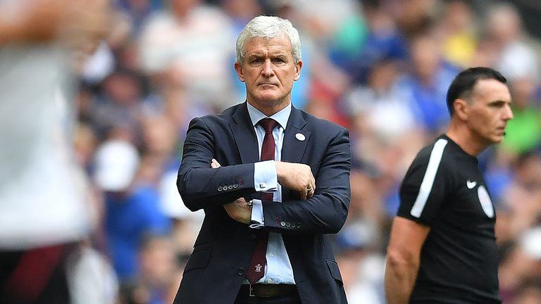 Mark Hughes saw his Southampton side beaten at Wembley