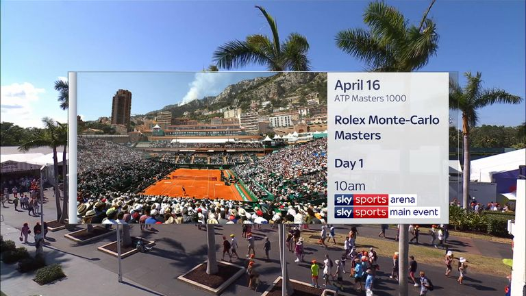 Monte Carlo Rolex Masters is live on Sky Sports