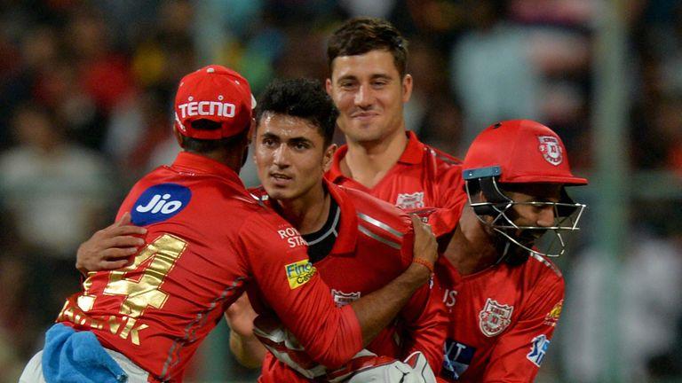 Afghanistan teenage offspinner Mujeeb Ur Rahman celebrates a wicket for Kings XI in the IPL (Credit: AFP)