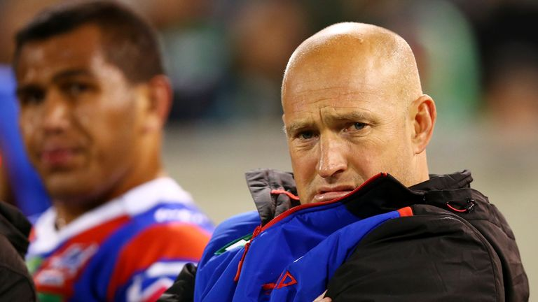 Newcastle Knights head coach Nathan Brown was involved in a spat with England boss Wayne Bennett this week