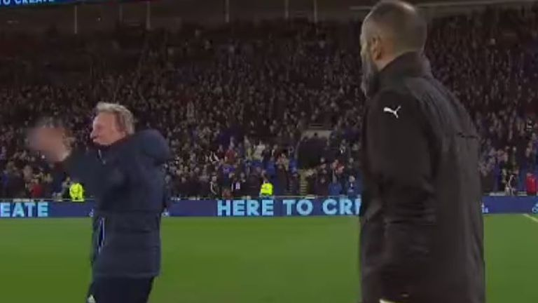 Warnock was unhappy with his opposite number
