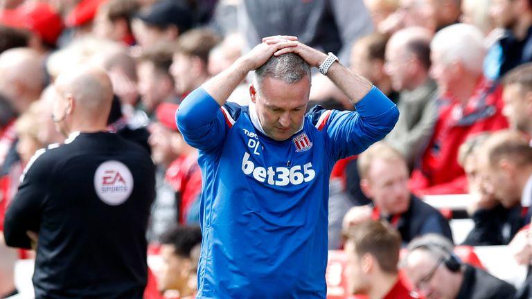 Stoke City manager Paul Lambert