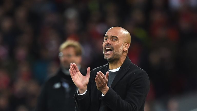 Pep Guardiola saw his Man City side lose to Liverpool in the Champions League on Wednesday