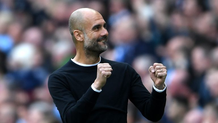 Pep Guardiola saw his Manchester City side crowned champions