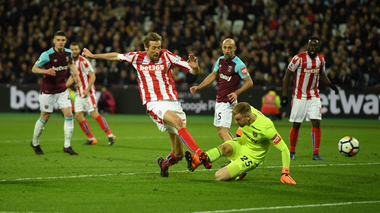 Joe Hart's latest mistake led to Peter Crouch's opener for Stoke