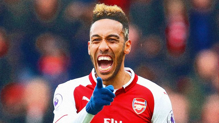 Pierre-Emerick Aubameyang is scoring consistently for his new club Arsenal