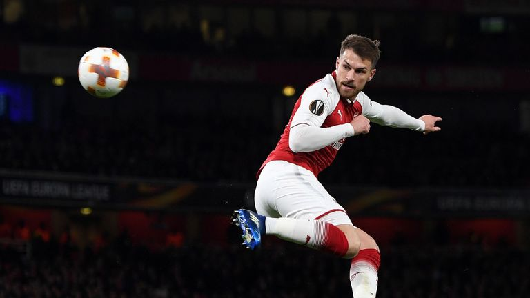 Ramsey scored with a cheeky back-heel against CSKA Moscow on Thursday