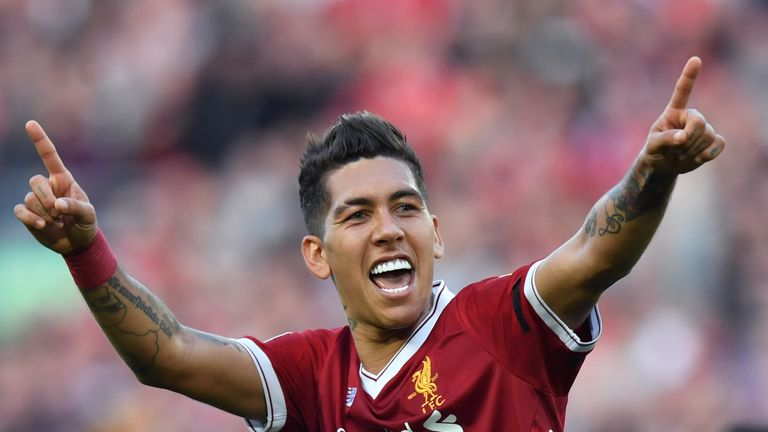 Liverpool's Roberto Firmino made the Power Rankings top 10 this season