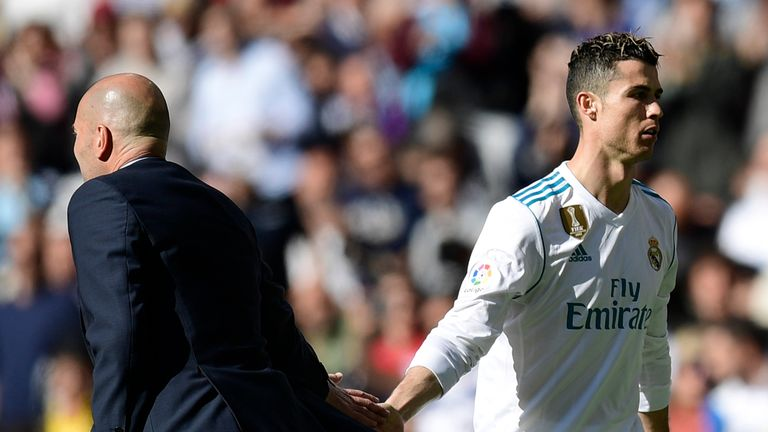 Cristiano Ronaldo was surprisingly substituted just past the hour-mark