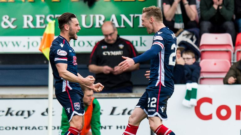 Alex Schalk (left) has scored 13 goals in all competitions for Ross County this season.