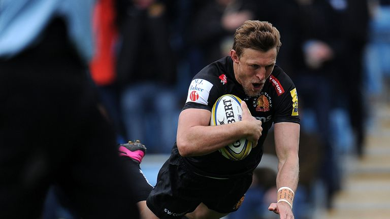 Lachie Turner scored Exeter's second try of the match