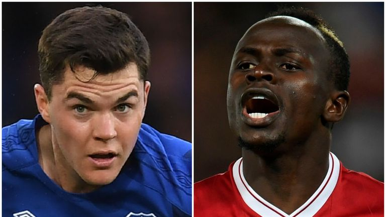 Michael Keane and Sadio Mane are set to go head to head on Saturday