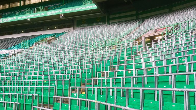 Celtic Park's safe standing area can accommodate 2,600 fans