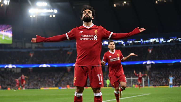 Mohamed Salah scored his 39th goal of the season as Liverpool won 2-1 at the Etihad