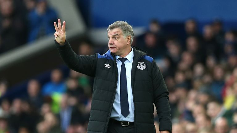 Allardyce's tactics were questioned by the Everton fans