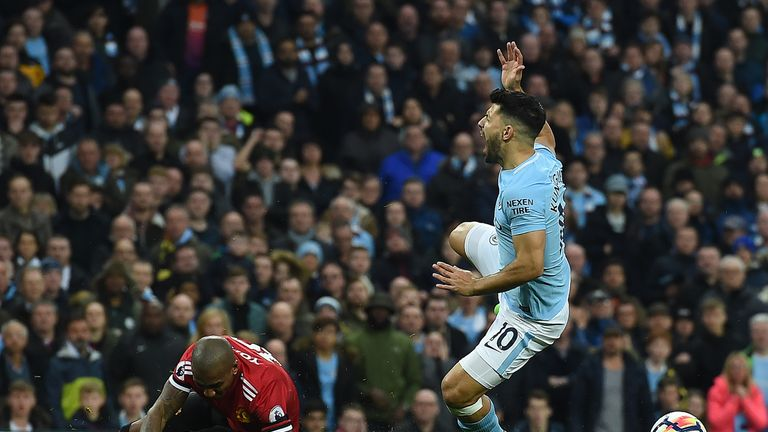Guardiola says Aguero has been unable to train following Ashley Young's tackle in the Manchester derby