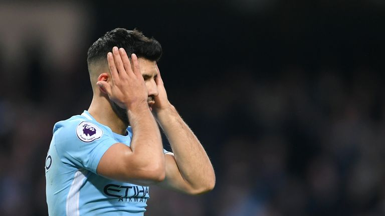 Guardiola is unsure when Aguero will return from his latest injury setback