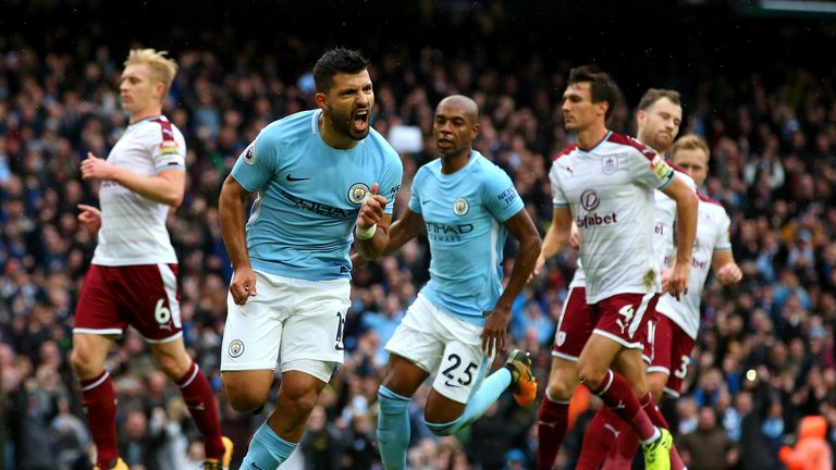 Sergio Aguero has helped fire City towards the goal scoring record