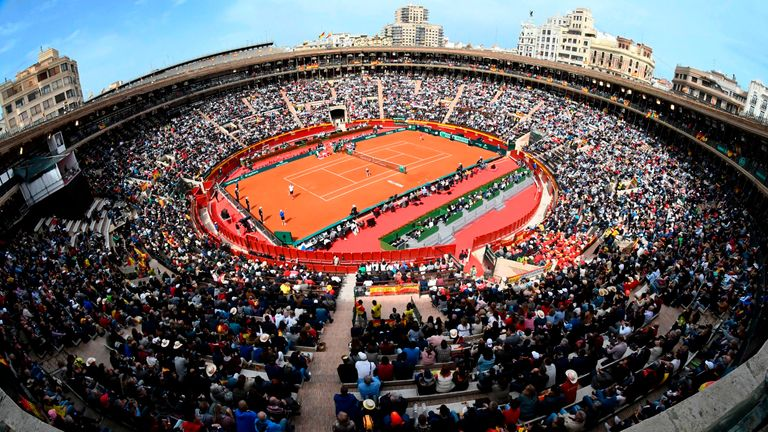 Valencia's bullring was the venue for Spain's Davis Cup clash against Germany