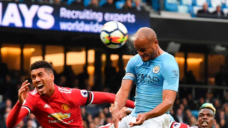 Vincent Kompany scored but City lost 3-2 to rivals United back in April
